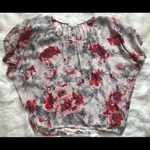 CABi 100% silk  floral shirts business casual